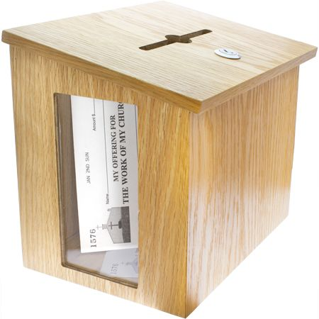 Large Wood Donation Box