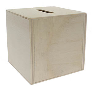 Blank Wood  Donation Boxes 3 Inch Square