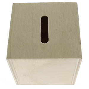 Blank Wood Donation Boxes or Piggy Banks 3 Inch