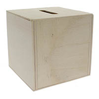 Blank Wood Donation Boxes or Piggy Banks 2 3/4 Inch