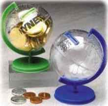 Custom Imprinted Globe Banks
