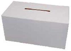 Blank Donation Box Largest Cardboard Fund Raiser
