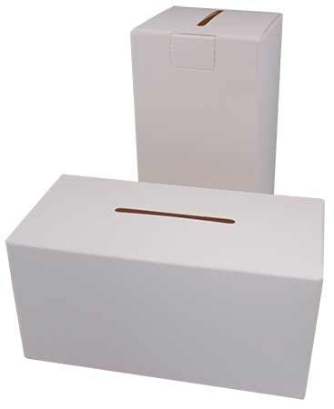 Square Can or Donation Box Cardboard