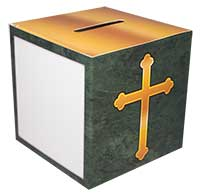 Family Size Cross Church Bank Box