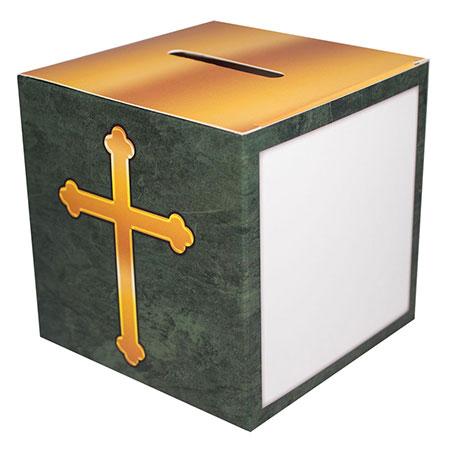 Cross Church Offering Box Family Size (Pkg of 50)