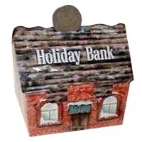 Holiday Church Bank Cardboard
