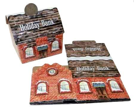 Holiday Church Bank Cardboard