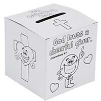Giving Offering Box, Color It Children's - 12 Boxes
