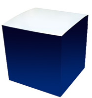 6 x 6 x 6 Custom Donation Box Process Color