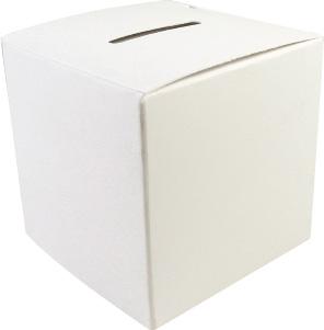 Large 3 1/2 inch Cardboard Donation Box (Pkg of 50)