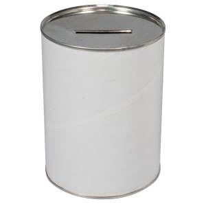 4 x 5 1/2  Inch Tall Tamper Resistant Donation Cans (Case of 36)