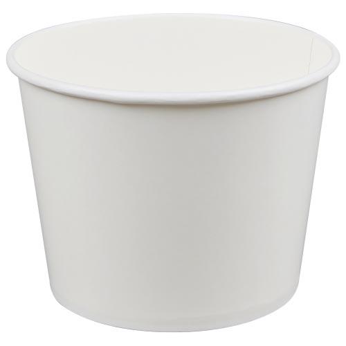 83 Oz White Paper Donation Bucket
