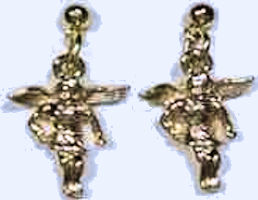 gold angel earrings