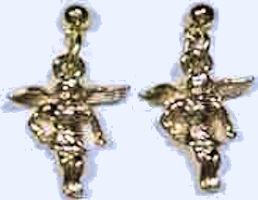 Angel Earrings Gold for Pierced Ears