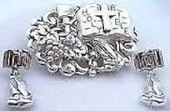 Holy Bible Pendant & Praying Hands Earring Set