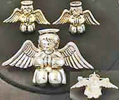 Praying Angel Pendant and Earring Set