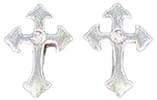 Cross Earrings Stainless Steel