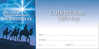 Believe Christmas Offering Envelopes (Box of 500)