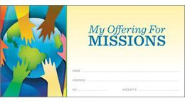 Missions Offering Church Envelopes (Pkg of 500)