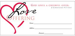 God Loves A Cheerful Giver Offering Envelope (Pkg of 100)