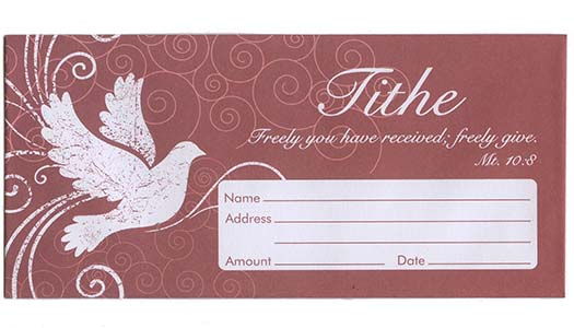 Freely Give Tithe Offering Envelopes (Pkg of 100)