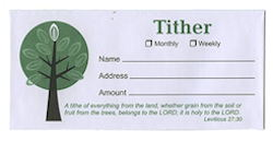 Holy to the Lord Tithe Offering Envelopes (Pkg of 100)