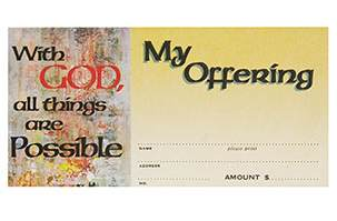 With God All things Are Possible Offering Envelopes (Pkg of 100)