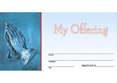 My Offering Envelopes with Praying Hands (Pkg of 100)