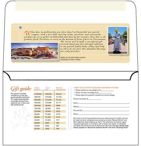 Custom Printed Long Flap Envelopes - 4 Colors on One Side