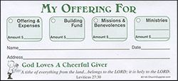 My Offering For Church Envelopes (Box of 500)