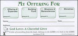 My Offering For Church Envelopes (Pkg of 200)