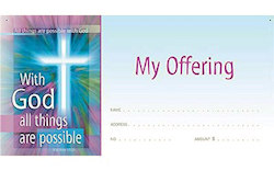 With God All Things Are Possible Offering Envelope (Pkg of 100)