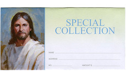 Special Offering Envelopes PIcture of Jesus