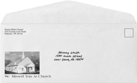 Custom Printed Church  School envelopes