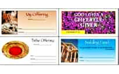 Church Pew Envelopes 4 Color One Side Custom (1000 Minimum)