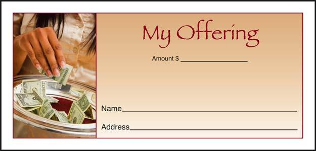 Full Color Custom Printed Church Pew Envelopes