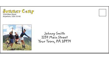 Custom #10 Envelopes with 4 Color Printing on One Side