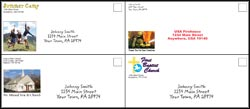 Business Size Envelopes 4 Color One Side