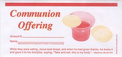 Communion Offering Envelope