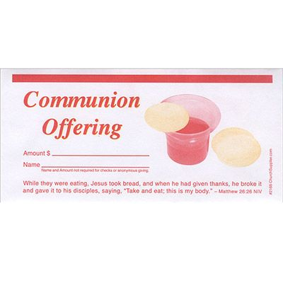 Communion Offering Envelope (Pkg of 100)