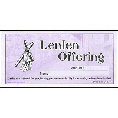 Lenten Offering Church Envelope (Pkg of 100)