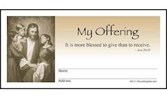 Jesus and Children My Offering Envelopes (Pkg of 500)
