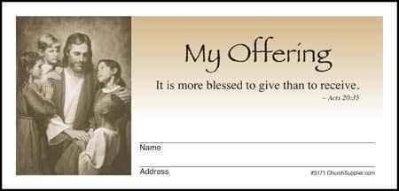 Jesus and Children My Offering Envelopes (Pkg of 500)