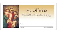 Jesus with Children Church Envelopes Full Color (Pkg of 500)