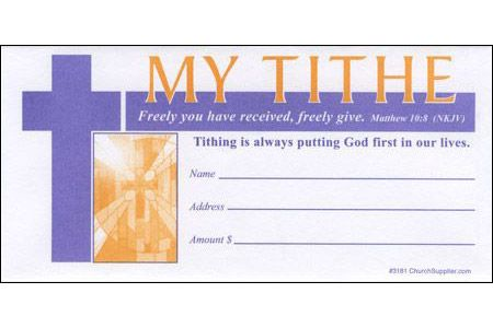 Church Tithe Value Offering Envelope (Pkg of 100)