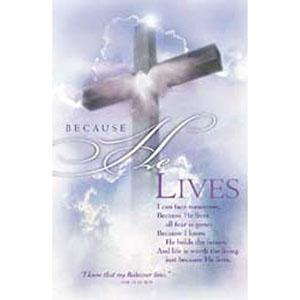 Easter Offering Bulletins He Lives  (Pkg of 100)