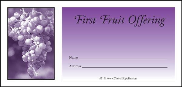 Fruit of the Spirit Church Offering Envelopes (Pkg of 500)