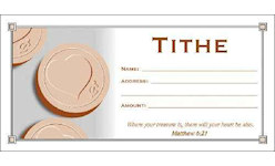 Tithe Church Offering Envelopes