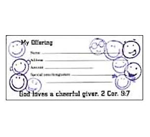 Cheerful Giver Offering Envelopes (Pkg of 100)