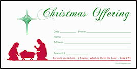 Christmas Offering Envelopes (Pkg of 100)